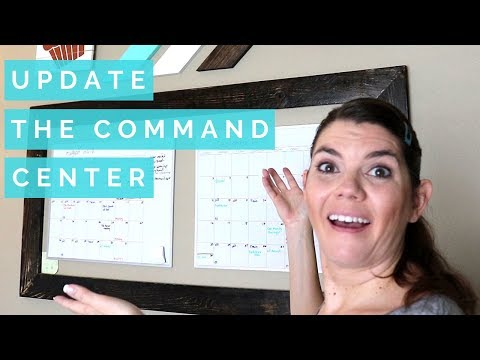COMMAND CENTER UPDATE // SPEED CLEANING ROUTINE // STAY AT HOME MOM