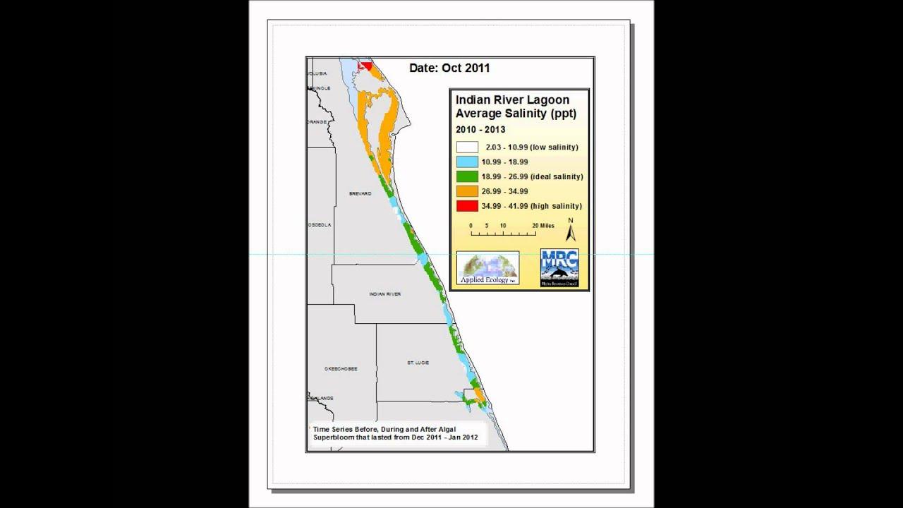 Indian River Lagoon Average Salinity YouTube - Indian river lagoon map