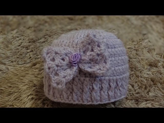 Passo a passo Touca de Crochê Laço para Bebê - Professora Simone -  YoutubeDownload.pro f451b937186