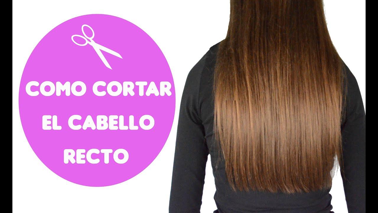 Cortarse el cabello recto sola