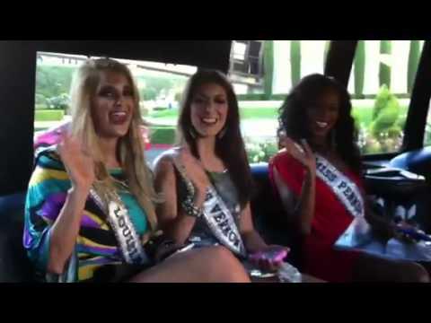 Miss Louisiana, Miss Vermont and Miss Pennsylvania say hello