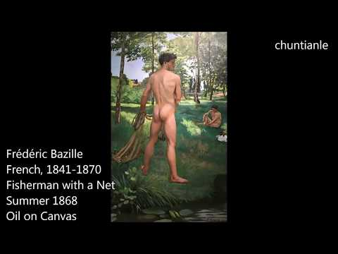 Famous Painting: Frédéric Bazille Fisherman With A Net