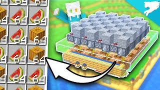 190 Pumpkins & MeĮons per HOUR! Easy Minecraft Farm!