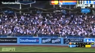 Gigantes Vs Dodgers  - Dodgers gana amparado en home runs  - Temporada 2015
