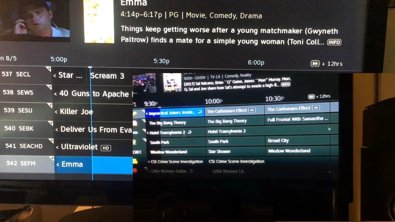 directv program guide not updating
