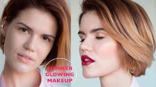 Летний светящийся макияж с акцентом на губы | Summer Tutorial: Glowy Skin & Bright Lips(Hey everyone☺   Этот ролик создан для вдохновения на эксперименты, с яркими цветовыми акцентами и новыми текстур..., 2015-08-04T17:28:58.000Z)