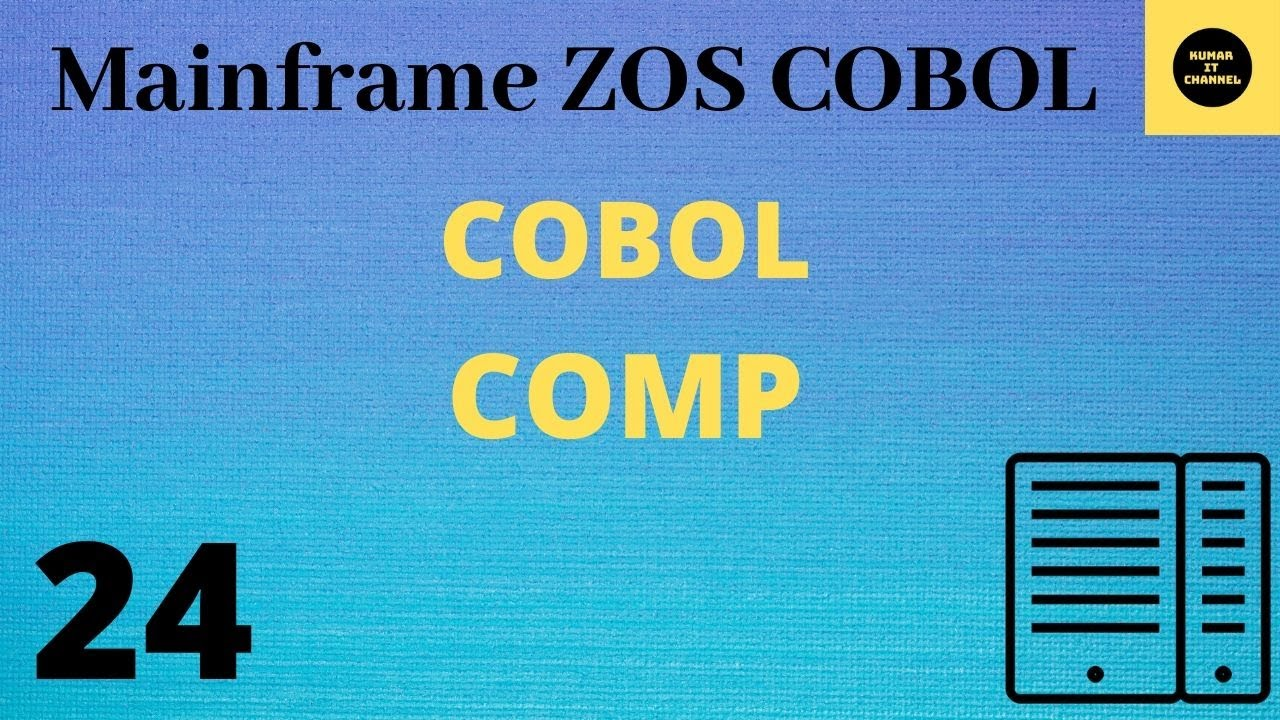 COBOL 14 - Difference showing Comp & Comp1, Comp2 & Comp 3