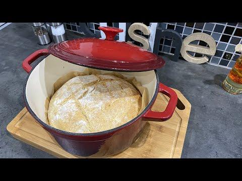 🇫🇷-🇧🇪-délicieux-pain-croquant-et-moelleux-,-dans-marmite-en-fonte-au-four-👌:-recette-facile-ela