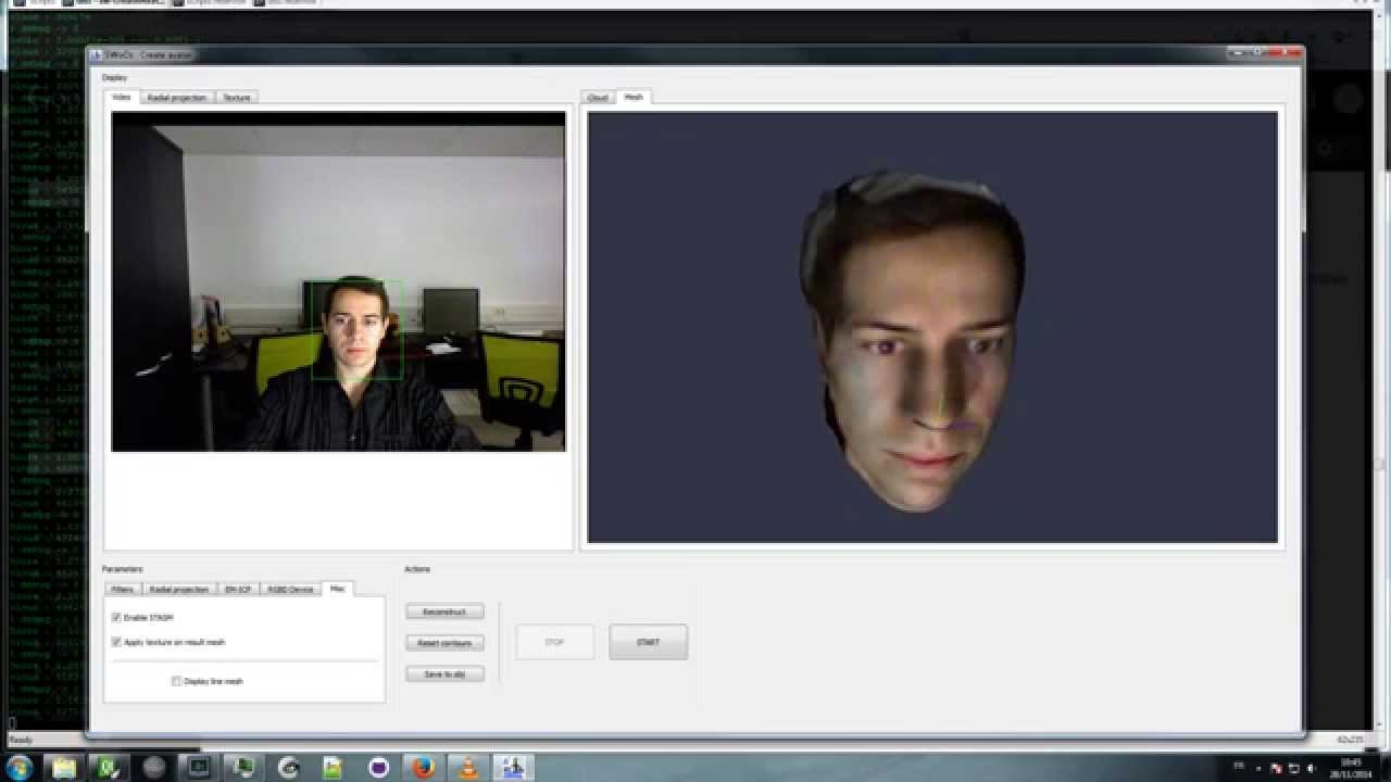 3D Face scan with kinect - SWoOZ