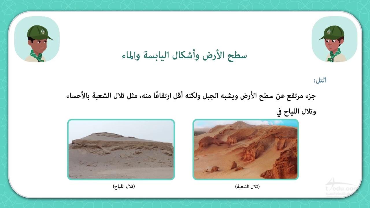 سطح الأرض وأشكال اليابسة والماء Youtube