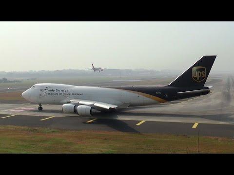 Ups Jumbo Boeing 747 Takeoff from Mumbai Airport