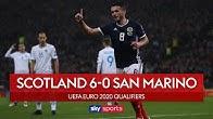McGinn scores hat-trick in Scotland rout | Scotland 6-0 San Marino | UEFA Euro 2020 Qualifiers