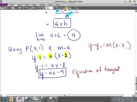 Cal 2.1  Rates of Change and Tangents to Curves