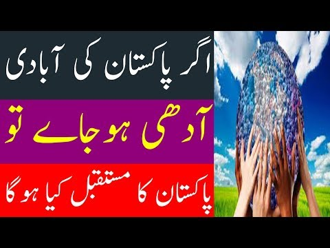 What will happen if Pakistan's population suddenly reduced to half