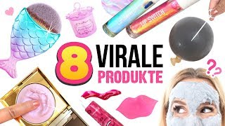 8 VERRÜCKTE BEAUTY PRODUKTE im Live Test 😱! VIRAL Kosmetik Haul!!!