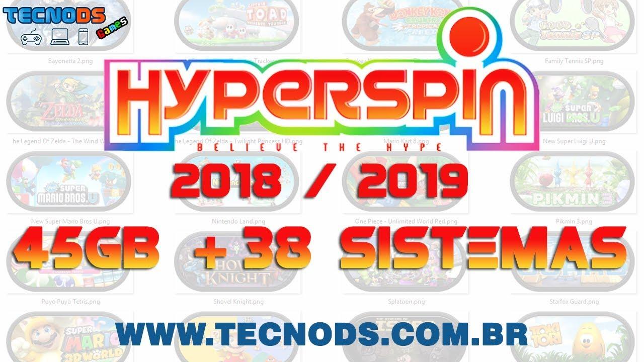 HYPERSPIN PC 45GB 38 SISTEMAS 2019