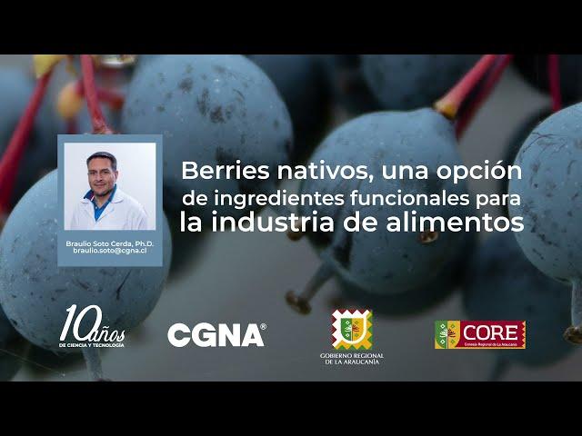 Berries nativos, una opción de ingredientes funcionales para la industria de alimentos