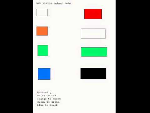 usb color codes wire colors - YouTube