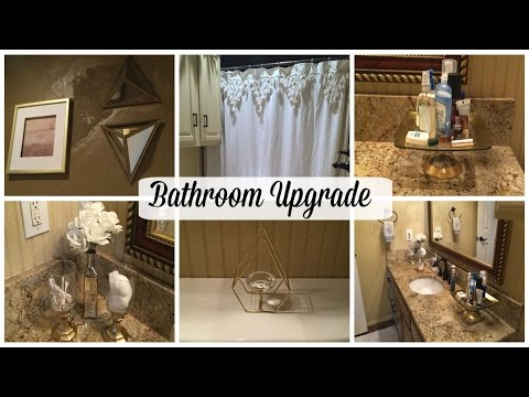 BATHROOM MAKEOVER | DOLLAR TREE DIY | TeenGirl/Guest Bath