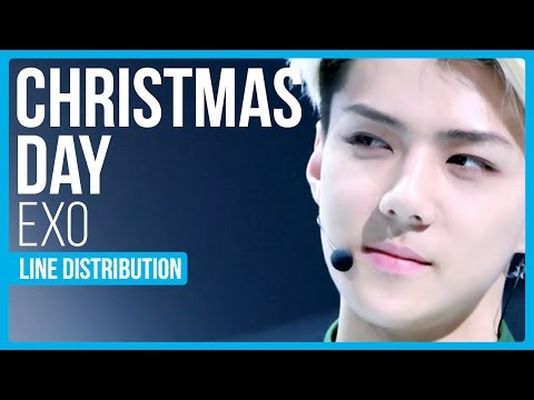EXO - Christmas Day Line Distribution (Color Coded) | KPOP Christmas Countdown