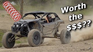 Maverick X3 INSTALL & TEST Shock Therapy springs + HUGE jump!