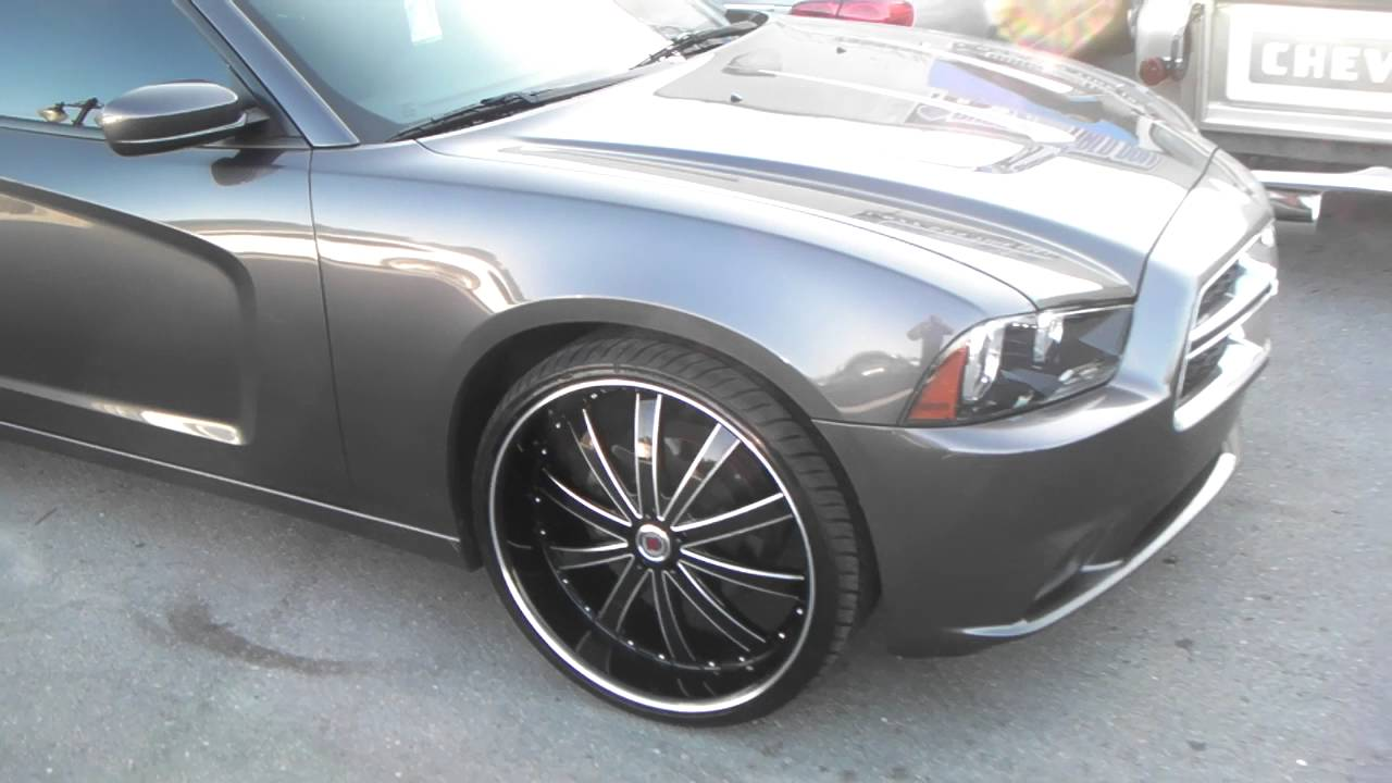 Charger On 30 Inch Rims : Inch red sport black rims dodge charger