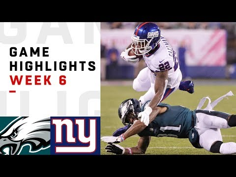 Eagles vs Giants Week 6 Highlights  NFL 2018