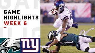 Eagles vs. Giants Week 6 Highlights | NFL 2018