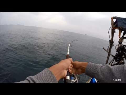 ตกปลาอินทรีย์ ทะเลอันดามัน Fishing & hand line fishing @Andaman Sea
