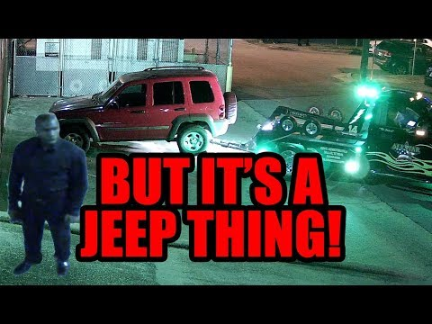 Jeep Liberated from No Parking Zone