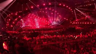 "Eleni Foureira ""Fuego"" LIVE from Altice Arena during Eurovision Final"