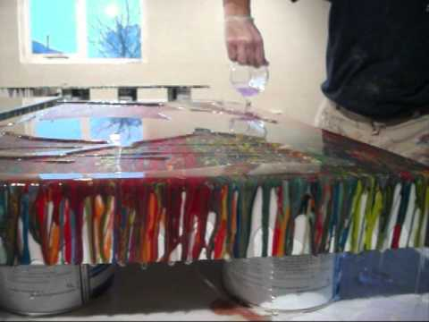 Clear Epoxy Resin To Cover Paintings amp Artwork YouTube