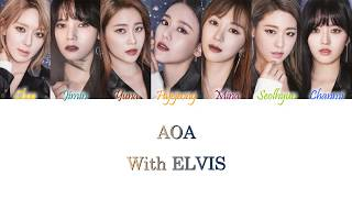 AOA (에이오에이) - With ELVIS Han/Rom/Eng Color Coded Lyrics