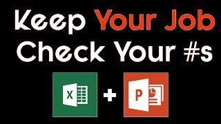 PowerPoint Excel Trick - Double Checking your numbers