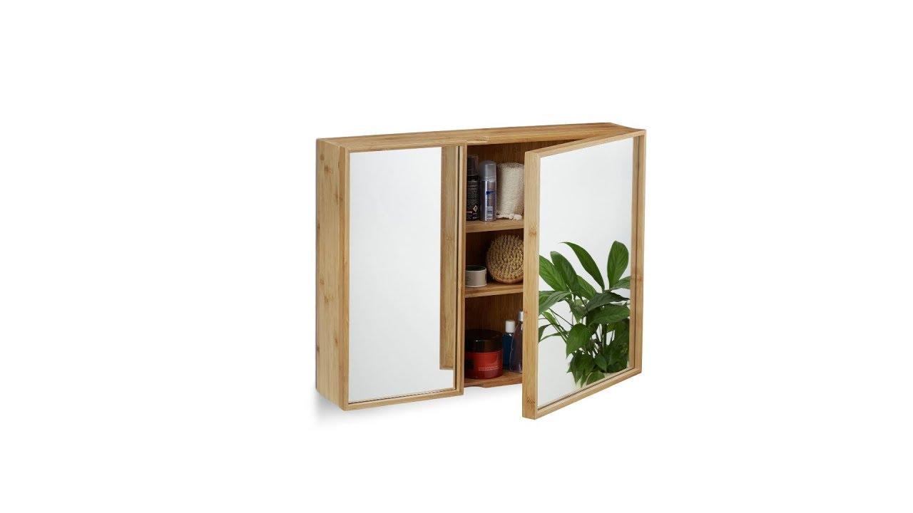 Bad Spiegelschrank mit 2 Türen - YouTube