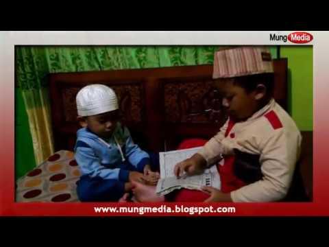 Lucu dan Menggemaskan, Anak Kecil Ngajari Bayi Belajar IQRO