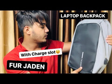 Fur Jaden Anti Theft Water Repellent 15.6 Inch Laptop  Bag with USB Charging Port   NIKHIL THIND