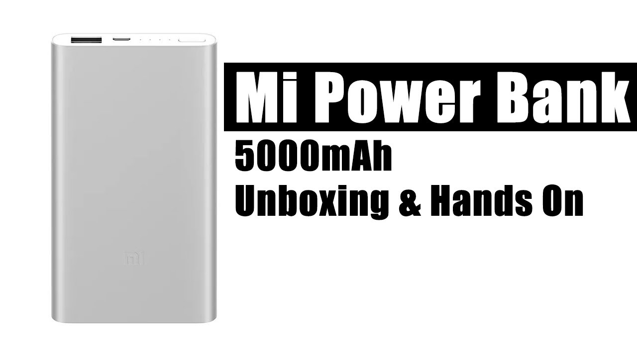 Mi Power Bank 5000mah Silver Unboxing Hands On Youtube Powerbank Xiaomi Slim 5000 Mah Ori