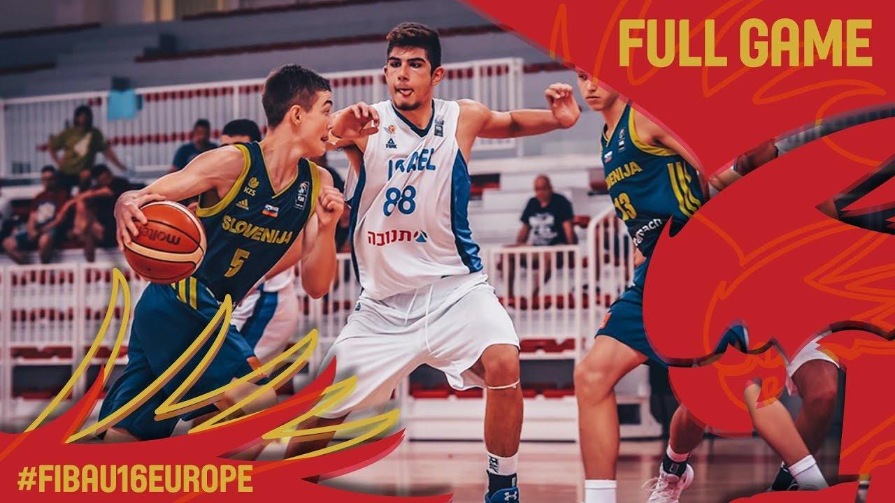 Israel v Slovenia - Full Game - Classification 9-12 - FIBA U16 European Championship 2017