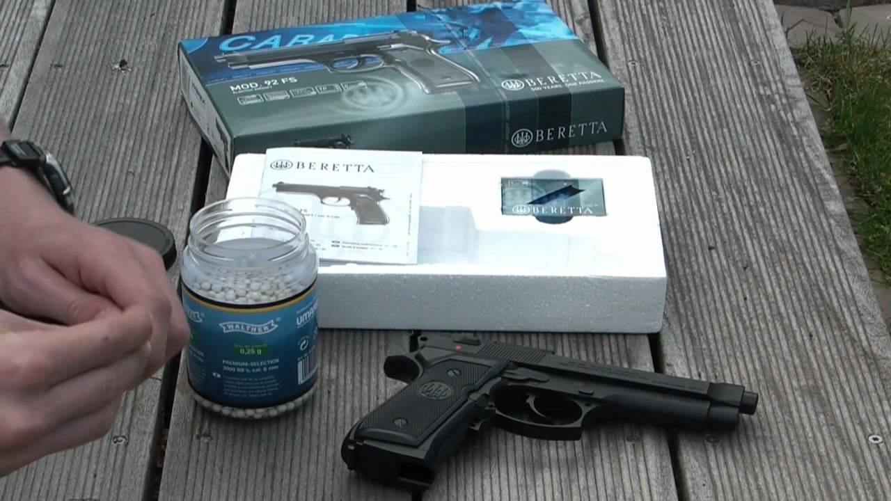 Beretta Mod92 FS AEG Airsoft HD YouTube