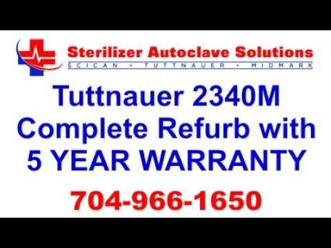 tuttnauer 2340m refurb w 5 yr warranty