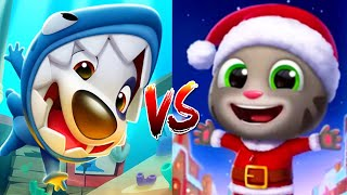 Talking Tom Gold Run Shark Hank vs Santa Talking Tom Run!Run!Run Gameplay Walkthrough