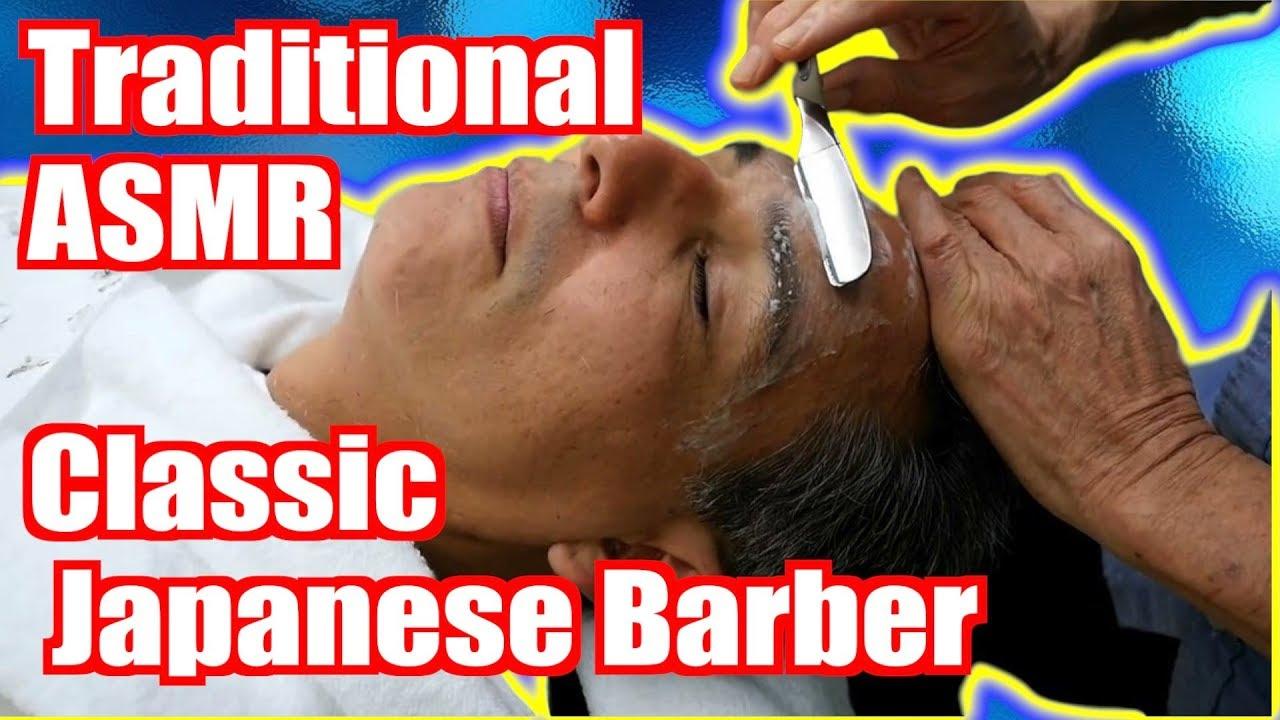 Classic 床屋さん Japanese Barbershop - Cut & Shave [ASMR] - Handheld DSLR - Take 2