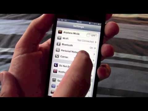 Get the personal hotspot menu back on your iPhone 5