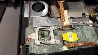 ibm lenovo x60s laptop heatsink and internal fan replacement