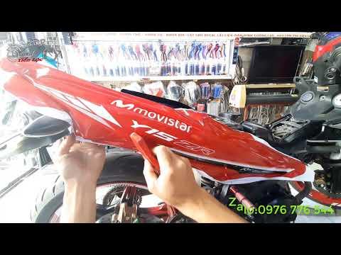 Dán Tem Trùm Ex 150 | Dán Tem Trùm Movistar Xe Exciter 150 Màu Đỏ Đẹp