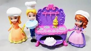 Принцесса София ее подруги и торт. Развлекающие и развивающие видео обзоры детских игрушек