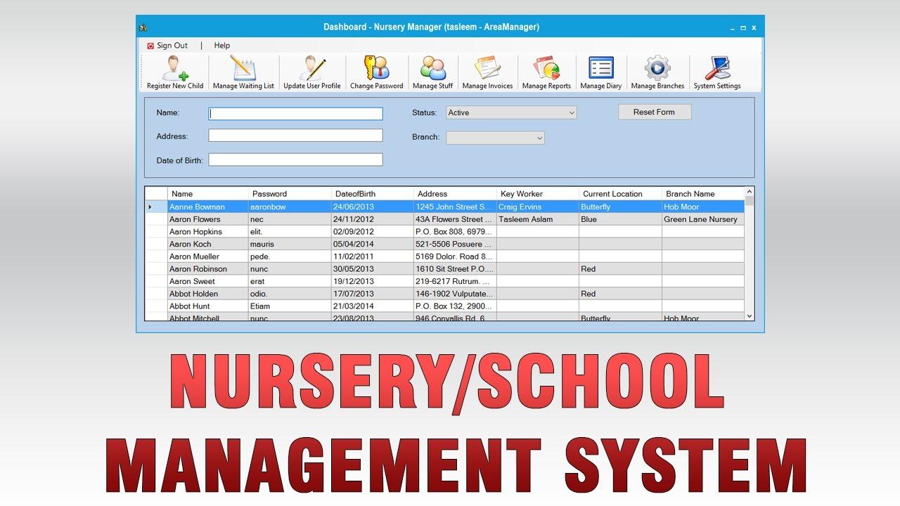Nursery School Management System Youtube