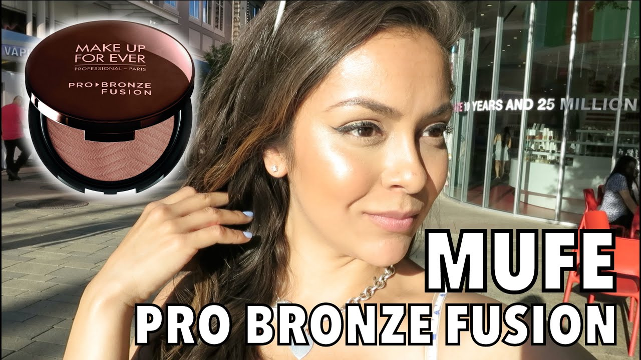 Makeup Forever Pro Bronze Fusion Review And Demo Trinaduhra Youtube