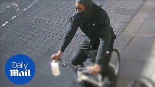 CCTV shows moment Joanne Rand was hit with 'acid' substance